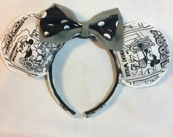 Steamboat Willie Mouse Ear Headband for Girls and Boys