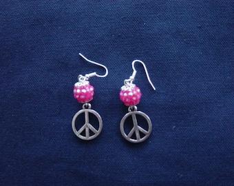 Peace and Love Disco earrings