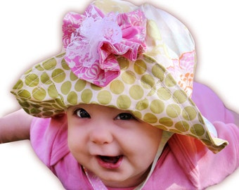 Sun Hat Pattern - 12 sizes - Newborn baby to adult - INSTANT DOWNLOAD