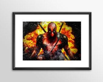 Deadpool 2018 V1 - Digitally Painted Tribute  - PRINTED - BUY 2 get 1 Free