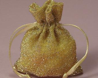 Silver Maize Sparkle Favor Bag