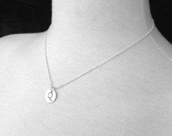 Initial Necklace, Letter Q Necklace, Letter Q Jewelry, Custom  Jewelry, Charm Necklace, Sterling Silver Jewelry, All Letters Available, Q
