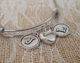 Anniversary Bracelet - Personalized Bracelet - Layering Bracelet - Adjustable Bracelet - Wedding Bracelet - Bridal Gift - Silver Bracelet