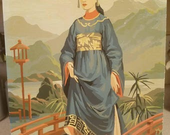 Paint by number. Asian lady. 1950's to 1960's