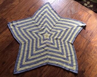 Custom Crochet Star Baby Blanket