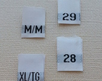 100 Custom Woven Labels Printed in Multicolor. Color Printed Custom Woven Tags. Woven Labels Custom Woven Tags Custom Woven Clothing Labels
