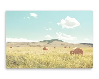 """large canvas wall art, large wall art, large colorful landscape wall art, landscape on canvas, large art on canvas - """"A Day in the Fields"""""""