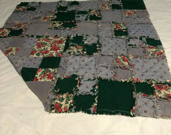 Ragtime Throw of cotton and flannel.  QT35