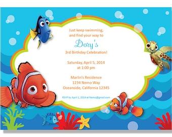 Nemo Birthday Invitations - Digital File