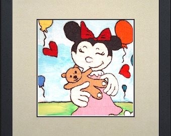 Silk painting of Minnie mouse