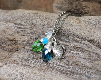 Sea Turtle Jewelry - Sea Turtle Necklace - Ocean Inspired Jewelry from Hawaii - Hawaiian Jewelry - Hawaiian Honu Necklace - Beach Necklace