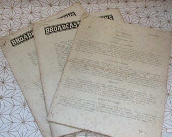 Three Vintage Wartime BBC Internal Publications 1940-44 - Broadcasting News - War News, D-Day - Marked as Confidential