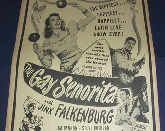 1945 Gay Senorita film broadside