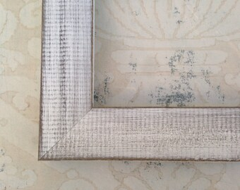 White Picture Frames- Rustic Farmhouse Style - Reclaimed Wood 4x4, 5x7,  8x10, 8.5x11, 10x10, 11x14, 16x20, 18x24, 24x30, 24x36 Custom Sizes