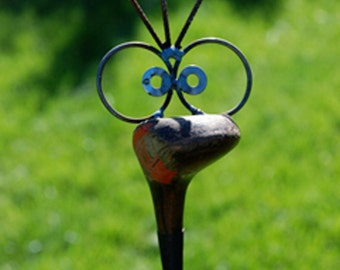 Golf Driver Garden Poke, recycled garden art, yard stake, golfer present, golfer gift