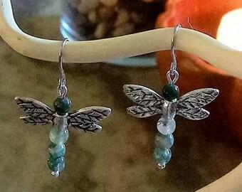 Dragonfly Gemstone Earrings