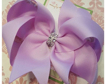 Girl hair clips, girl barrettes, bows for girls, lavendar hair bow, hair clips for girls