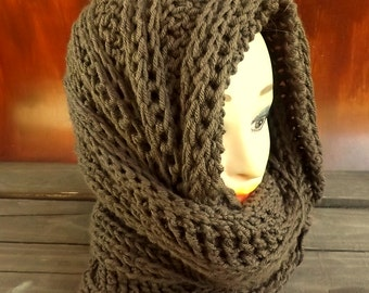 Hooded Cowl Pattern, Mobius Cowl Scarf Crochet Pattern Hooded Scarf Crochet Scarf, Infinity Scarf, Crochet Cowl Pattern, Joan Oversized Cowl