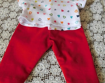 15 inch Baby Doll Pants and Tee
