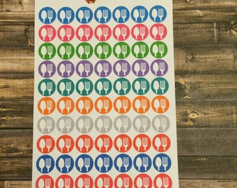 Large Spoon Fork stickers