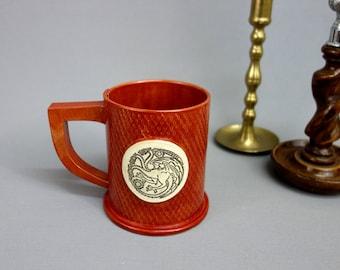 House Targaryen Ceramic Mug in Brick Red