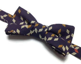 bow tie pre tied, fabric graphics, bowtie, marriage, wedding