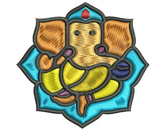Hindu Ganesha - Machine Embroidery Design