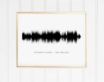 Sound wave Song and Title Personalised Print