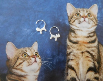 Cat tail earrings ( Reduced ! )