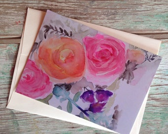 Madelyn - the PostCard Print, Original Art Print, Happy Mail, Snail Mail
