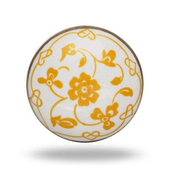 Poigne De Porte En Cramique Rtro Bouton Dcoratif Blanc