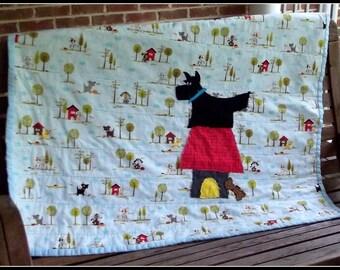 Angus, the Scottie Dog quilt pattern