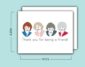 Golden Girls Card: Thank You For Being a Friend