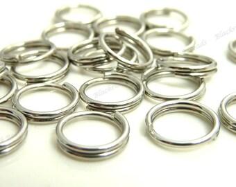 100pcs 304 Stainless Steel Double Loop Jumprings - 6mm Jumprings, Jewelry Findings - BP12