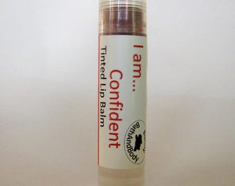 I Am Confident Brick Red Tinted Lip Balm, Red Lip Balm, Sunset Lip Gloss, Lip Tint, Lip And Cheek Stain, Natural Lip Color, Red Lipstick