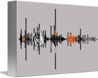 """Soundwave Art™ John Coltrane Soundwave Art Canvas - 12"""" x 18"""""""
