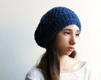 Slouchy Hat / Winter hat / Slouchy Beanie / Blue Beanie /  28 DIFFERENT COLORS