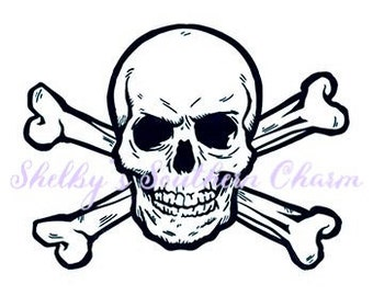 Skull and Crossbone SVG.EPS.DXF files