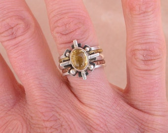 Citrine Four Directions Stack Ring