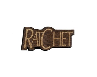 Ratchet  Laser Cut Lapel Pin
