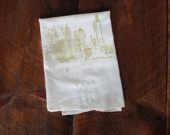 Philadelphia towel, Philly skyline towel, Philadelphia tea towel, coworker gift, gifts for men, Philly gift, souvenir