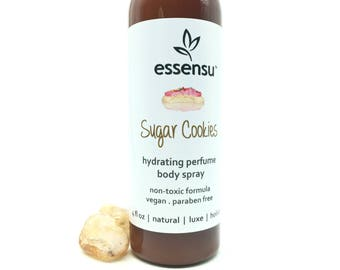 Sugar Cookies Moisturizing Natural Perfume Body Spray | Non Toxic Fragrance | Hair Perfume | Hydrating Body Mist Vegan No Phthalates - 4 oz