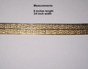 Vintage 1960s Womens Gold Cuff Bracelet Stamped CT18750
