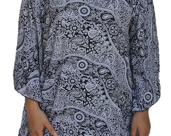 Plus Size Clothes | Women's Tunic Top | Poncho Style with Big Sleeve Caftan | One Plus Size 1x 2x 3x