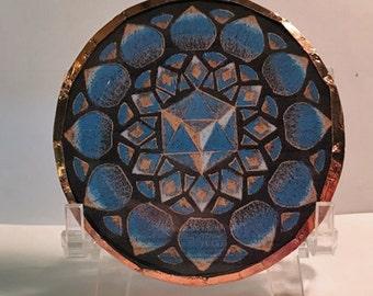 Lapis Crystal Disc