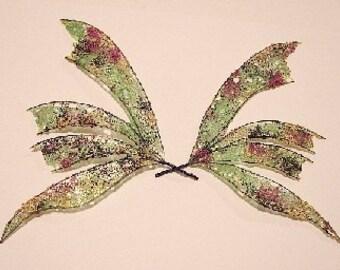 Fee Flügel-Ooak-schillernd-Harlekin-erstellen Sie Flügel auf Anfrage