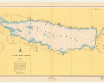 Oneida Lake Historical Map 1950
