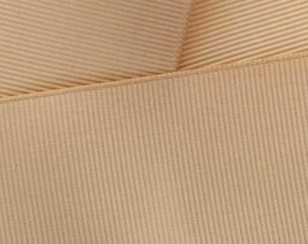 Tan Grosgrain Ribbon Solid- Choose Width / Length