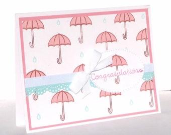New Baby Greeting Card  - Handmade Paper Card - Baby Shower Card, New Mom Card, Baby Boy Card, Baby Girl Card