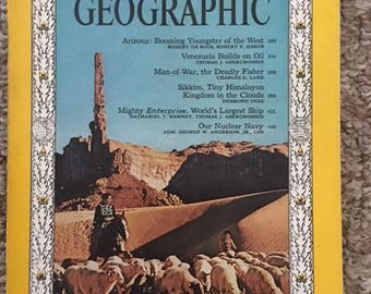 Vintae National Geographic March 1963  Very cool Excellent condition
